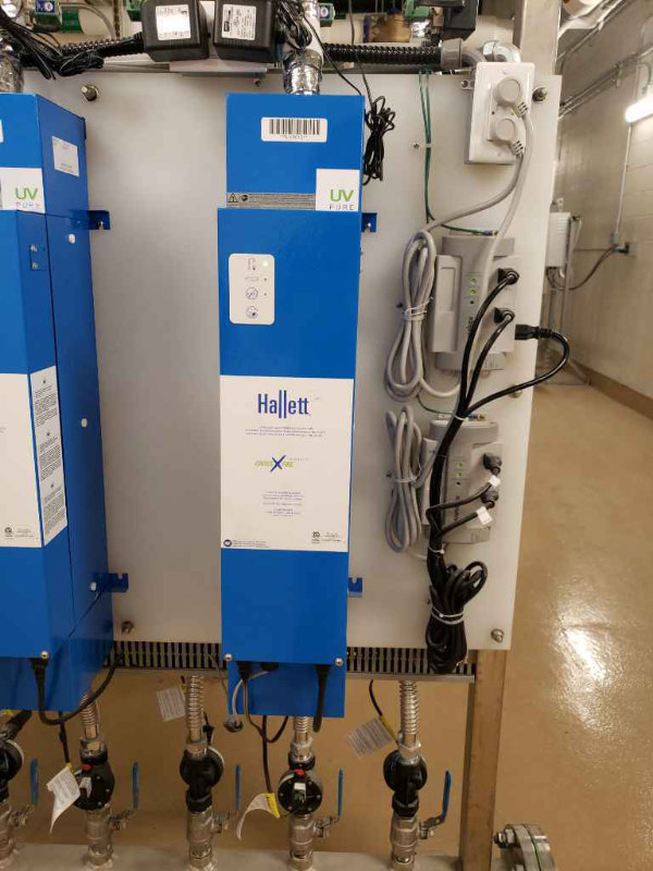 Photo of two LiquiTech UV Disinfection units