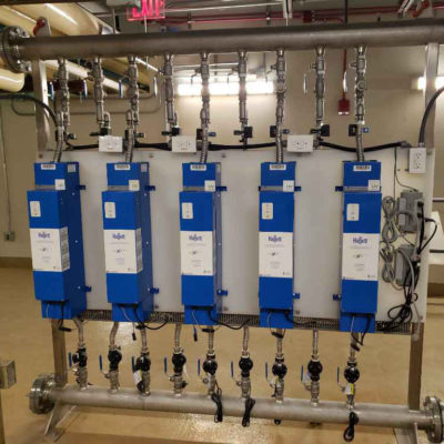 Photo of a row of LiquiTech UV Disinfection units