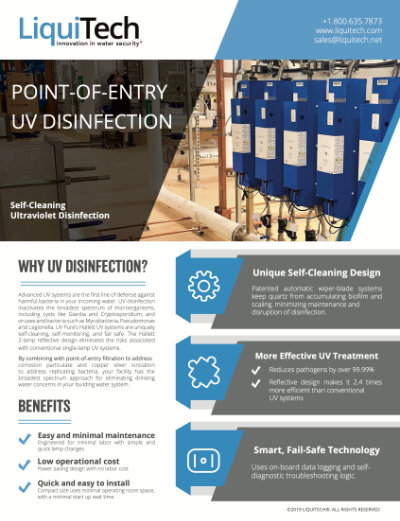LiquiTech's Ultraviolet Disinfection brochure download thumbnail